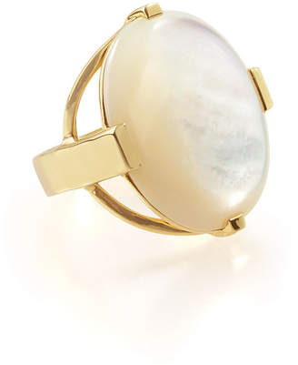 Ippolita 18K Polished Rock Candy Large Mother-of-Pearl Oval Ring