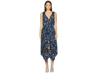 The Kooples Sleeveless Dot Print Maxi Dress