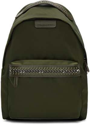 Stella McCartney Green Nylon Chain Backpack $965 thestylecure.com