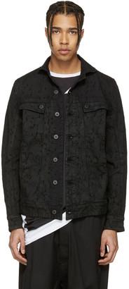 11 by Boris Bidjan Saberi Black Metric Laser Denim Jacket $775 thestylecure.com
