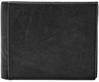 Fossil Ingram Rfid Large Coin Pocket Bifold Wallet Black