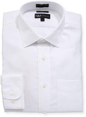 Neiman Marcus Classic-Fit Non-Iron Dobby-Solid Dress Shirt