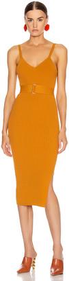 Nicholas Knit Triangle Top Dress in Dark Gold | FWRD