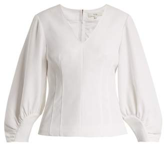 Tibi Deep V Neck Contoured Top - Womens - White