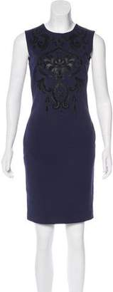 Emilio Pucci Leather-Trimmed Sheath Dress