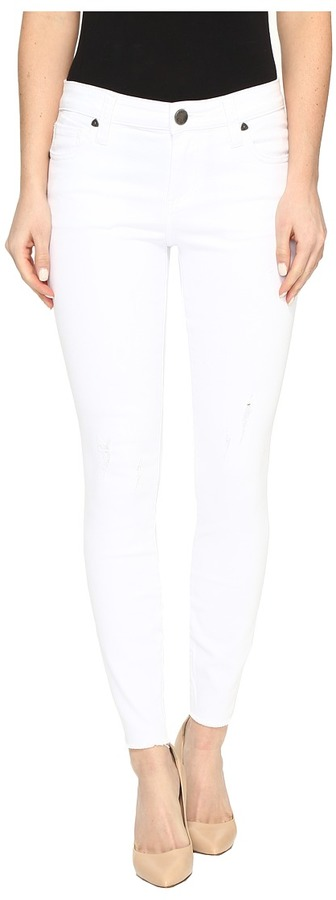 KUT from the Kloth Connie Ankle Skinny in White Women's Jeans