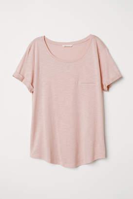 H&M Slub Jersey T-shirt - Orange