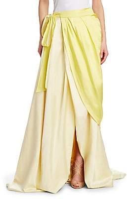 Rosie Assoulin Women's Draped Silk Wrap Ball Skirt