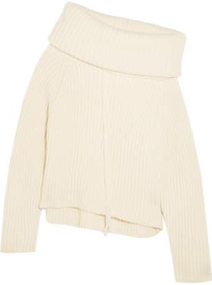 Joseph Oversized Ribbed Wool Turtleneck Sweater - Cream