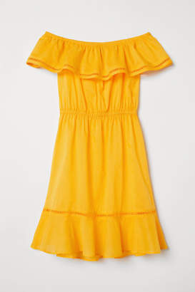 H&M Off-the-shoulder Dress - Yellow