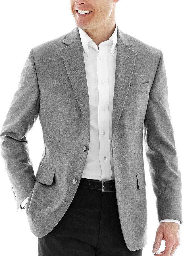 STAFFORD Stafford Executive Hopsack Blazer - Portly