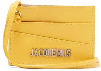 Jacquemus Leather Necklace Cardholder - Mens - Yellow