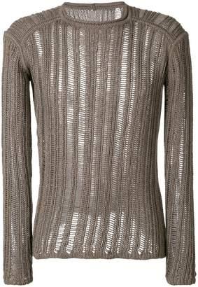 Rick Owens open knit sweater