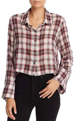 Splendid Plaid Cropped Shirt