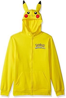 Pokemon Men's Pikachu Character Zip Front Hoodie