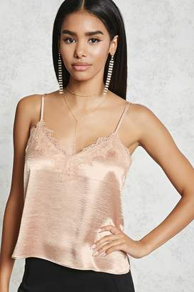 Forever 21 Contemporary Lace Satin Cami