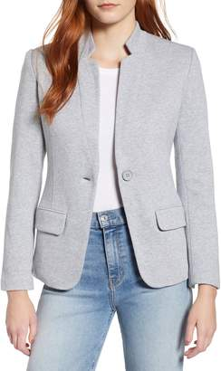 Gibson Notch Collar Cotton Blend Blazer
