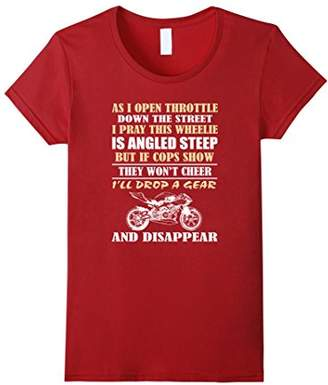 Biker Drop A Gear And Disappear - Funny Motorcycle Shirt