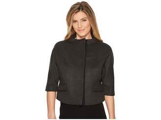Anne Klein Cropped Funnel Neck Jacket Women's Coat