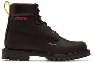 Heron Preston Black Style Boots
