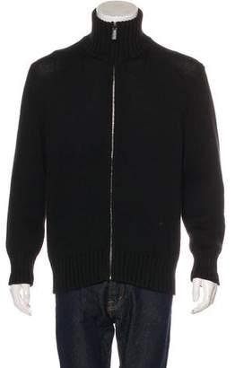 Gucci Wool & Silk Mock Neck Sweater