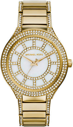 MICHAEL Michael Kors 38mm Kerry Crystal Bracelet Watch, Yellow Golden