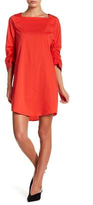 MELLODAY Solid Ruche Sleeve Dress