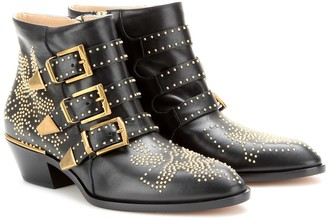 5d008fac Chloe Studded Ankle Boots - ShopStyle