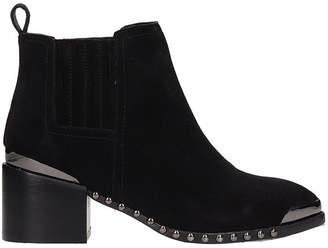 Julie Dee Black Suede Ankle Boot