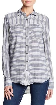 Derek Lam 10 Crosby Denim Woven Stripe Shirt