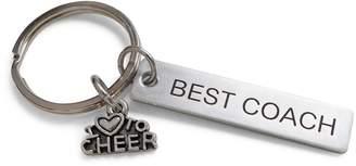 "Coach JewelryEveryday Cheer Gift, Appreciation Gift, Engraved ""Best Keychain"