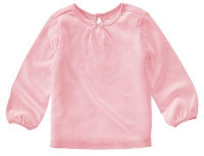 Pink Shirred Tee