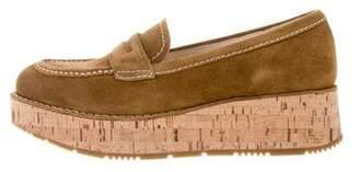 Prada Sport Suede Platform Loafers