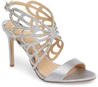 Badgley Mischka Taresa Crystal Embellished Butterfly Sandal (Women)