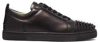 Christian Louboutin Louis Junior Low Top Leather Trainers - Mens - Black
