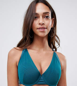 a6ff6f8920d Project Me Projectme Nursing Ambition mesh flexiwire plunge bra in teal