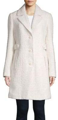 Gallery Wool-Blend Notch Collar Boucle Coat
