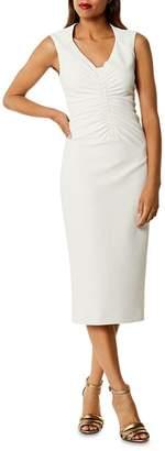 Karen Millen Ruched Cutout Midi Dress
