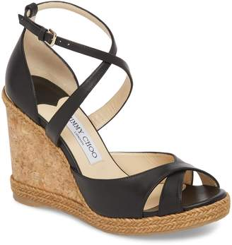 a19fcb95c55 Jimmy Choo Black Espadrille Wedge Women s Sandals - ShopStyle