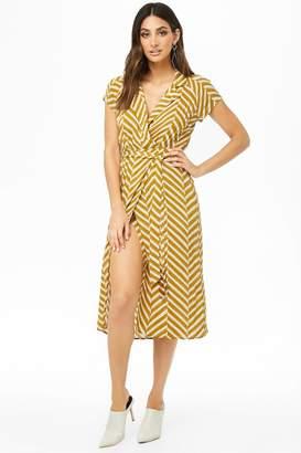 Forever 21 Chevron Midi Wrap Dress