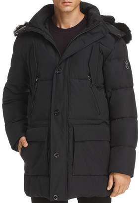 Karl Lagerfeld Paris Faux Fur-Trimmed Puffer Coat
