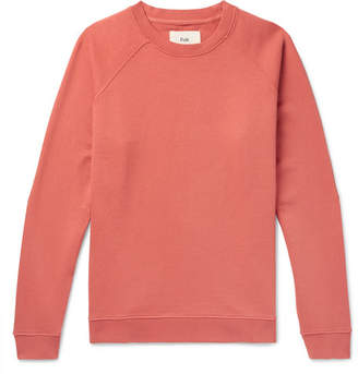 Folk Rivet Loopback Cotton-Jersey Sweatshirt - Coral