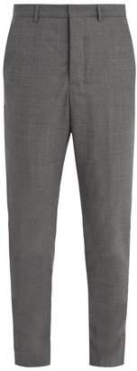 Ami Slim Leg Wool Trousers - Mens - Grey