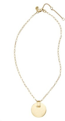 Women's Madewell Disc Pendant Necklace $45 thestylecure.com