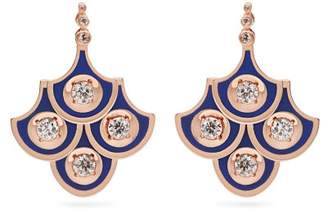 Selim Mouzannar Fish For Love Diamond & 18kt Rose Gold Earrings - Womens - Blue