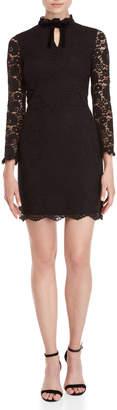Nanette Lepore Nanette Lace Velvet Bow Sheath Dress