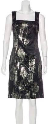 Just Cavalli Metallic Satin Dress