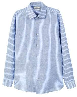 Mango man MANGO MAN Slim-fit striped linen shirt