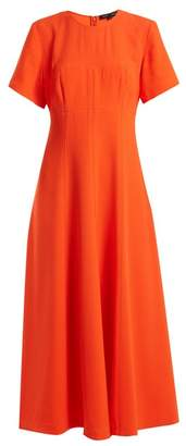 Proenza Schouler Round Neck Stretch Crepe Dress - Womens - Coral