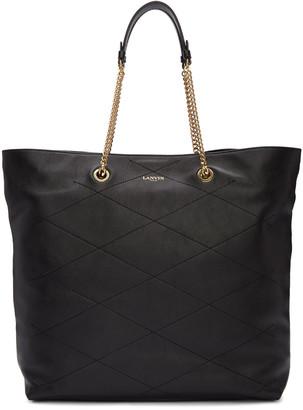 Lanvin Black Leather Sugar Tote $1,850 thestylecure.com